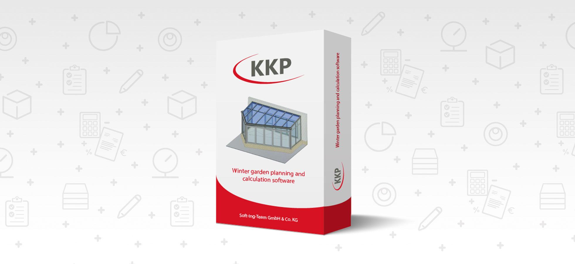 Das Bild zeigt die Wintergarten- und Terrassendach Software von KKP Soft. Ing Team